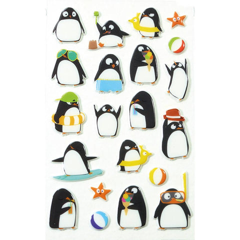 Midoco.ca: Cooky Stickers Penguins at the Beach