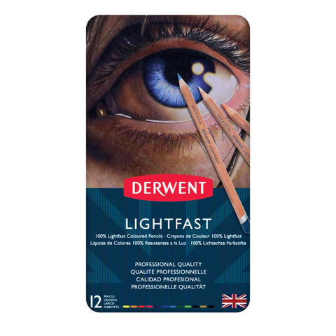 Derwent Lightfast Colour Pencil 12 Set