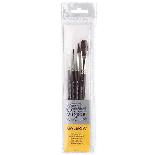Winsor & Newton Galleria Brush Set 4pk