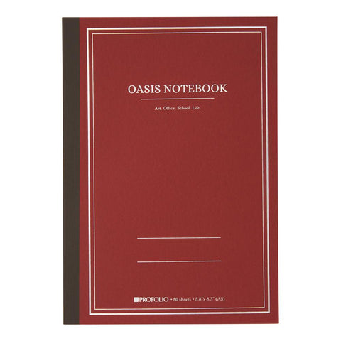 Midoco.ca: Itoya Oasis Notebook Medium Red Brick Cover