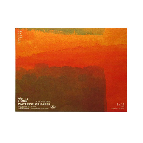 "Midoco.ca: Fluid Cold Press Watercolor Block 9""x12"" 140lb"