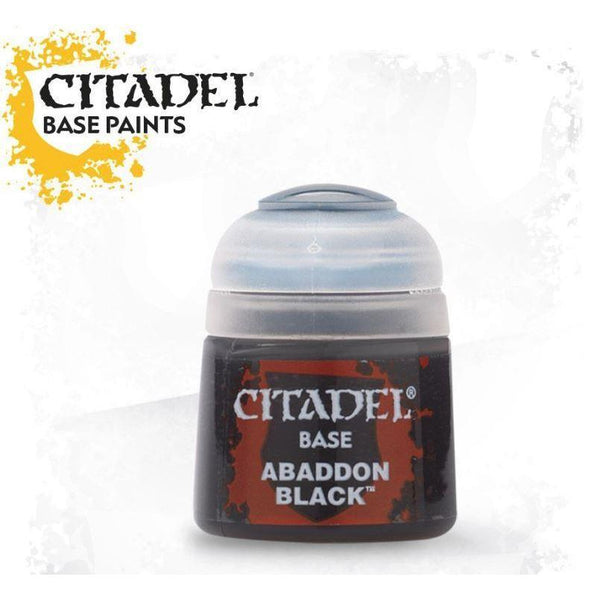 Citadel Acrylic Paint Base Abaddon Black