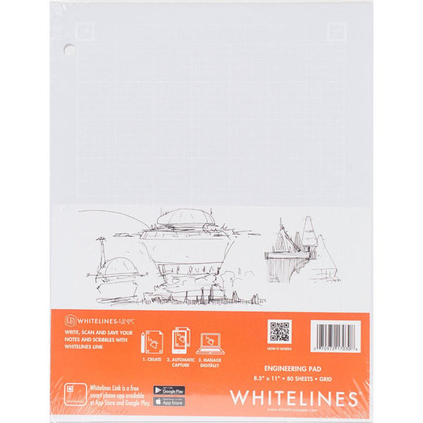 Whitelines Engineering Pad Letter-Sized