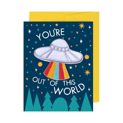 Midoco.ca: Greeting Card Badge Bomb UFO Patch