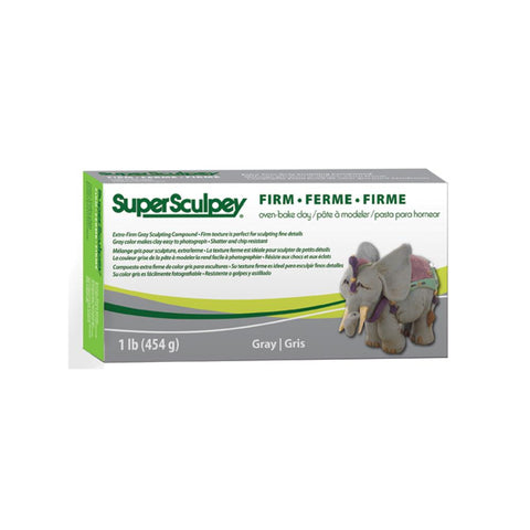 Midoco.ca: Polyform Super Sculpey Firm Clay 1Lb Grey