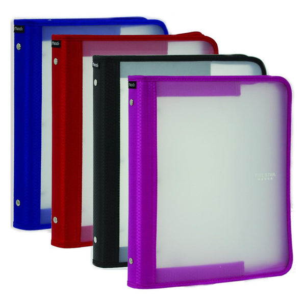 "midoco.ca: Five Star Poly Zipper Binder 1.5"" (Assorted Colours)"