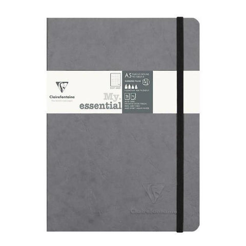 Midoco.ca: Clairefontaine Dotgrid Notebook grey