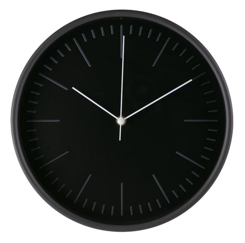 "Midoco.ca: 12"" Wall Clock Black"