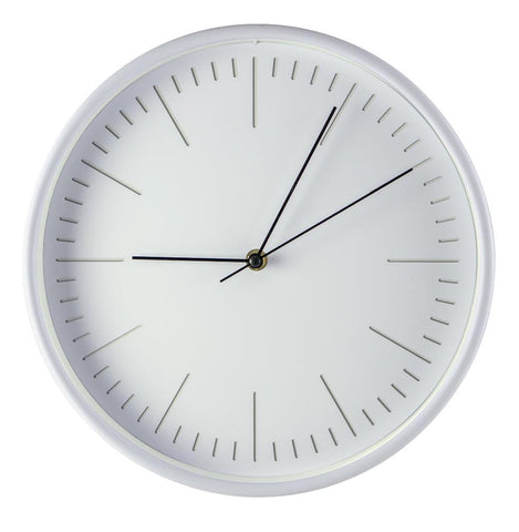"Midoco.ca: 12"" Wall Clock White"