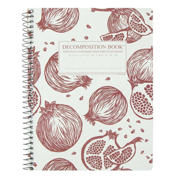 Wire-Bound Decomposition Notebook- Pomegranates