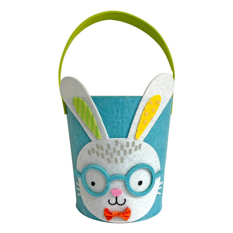 midoco.ca: Amscan Felt Easter Basket - Bunny with Glasses