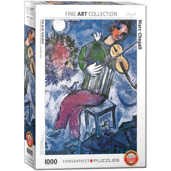 Midoco.ca: The Blue Violinist Chagall Puzzle 1000pc Eurographics