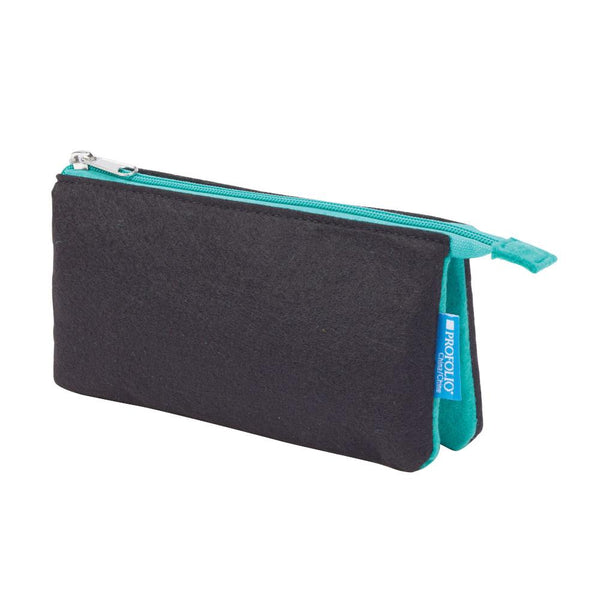 "Midoco.ca: Itoya Midtown Zipper Pouch 4x7"" Black & Wintergreen"