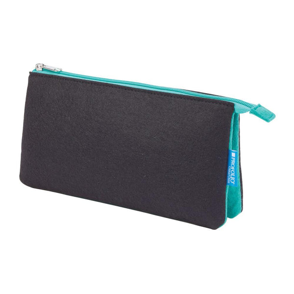"Midoco.ca: Itoya Midtown Zipper Pouch 5x9"" Black & Wintergreen"