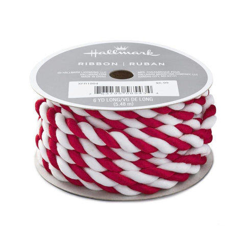 Hallmark Red & White Twisted Yarn