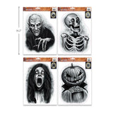 CTG Ghostly Ghouls Halloween Window Clings (Assorted)