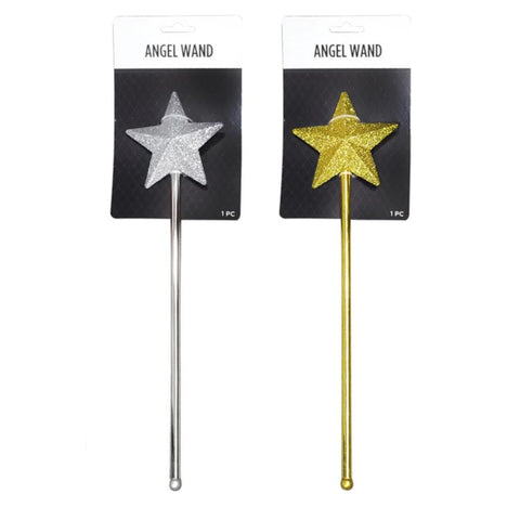 CTG Party Gear Glitter Star Wand (Gold or Silver)