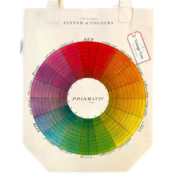 Cavallini Canvas Tote Bag - Colour Wheel