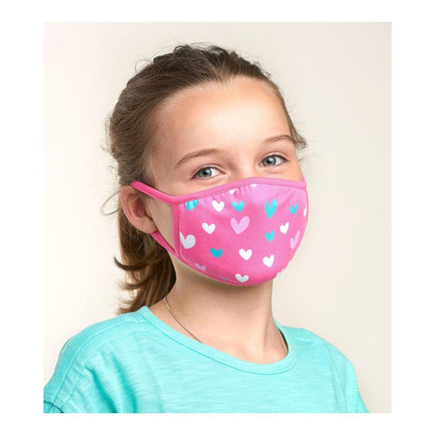 Little Blue House Kid's Hearts Face Mask