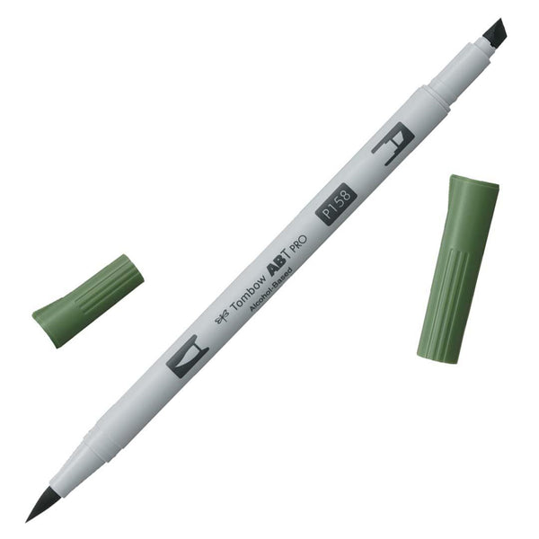 Midoco.ca: Tombow ABT PRO Alcohol-Based Marker #P158 Dark Olive