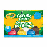 Crayola Acrylic Paint 6pk of Assorted Colours