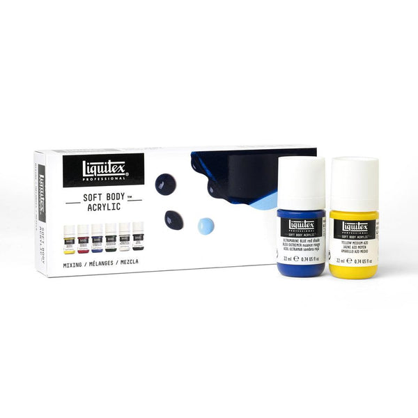 Midoco.ca: Liquitex Professional Soft Body Acrylic Set 6x22ml - Mixing