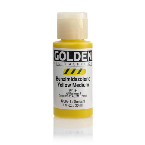 Midoco.ca: Golden Fluid Acrylic Paint 1oz Benzimidazalone Yellow Med