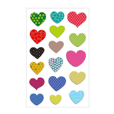 Cooky Stickers, Dotted Hearts