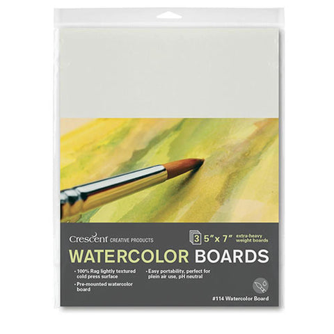 "Crescent Cold Press Watercolour Board 3pk 5""x7"""