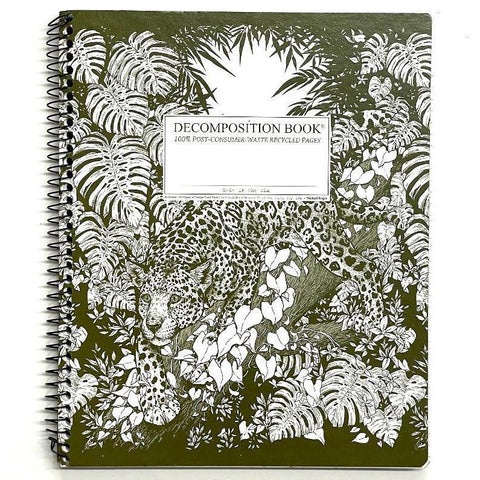 Coil-Bound Decomposition Notebook XL - Jaguar