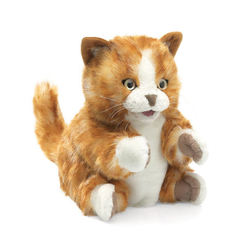 Midoco.ca: Folkmanis Hand Puppet Orange Tabby Cat