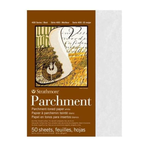 "Strathmore White Parchment Paper 8""x11"""