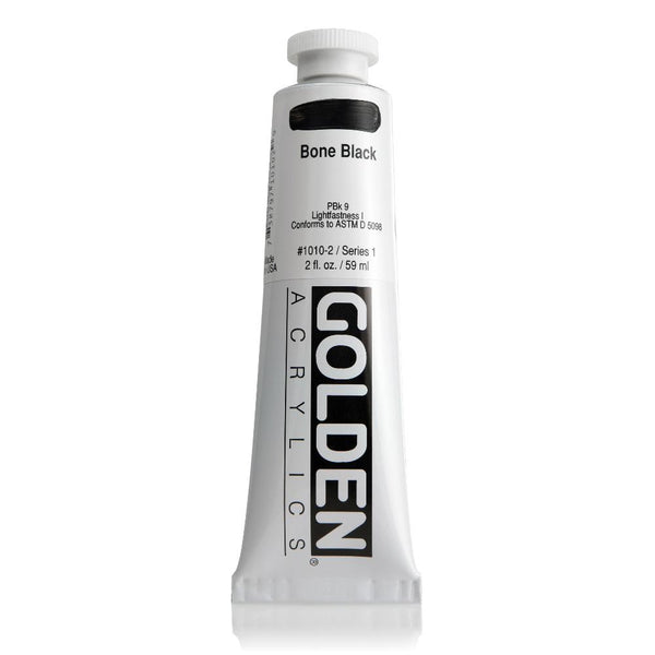 Midoco.ca: Golden Heavy Body Acrylic 2oz Bone Black
