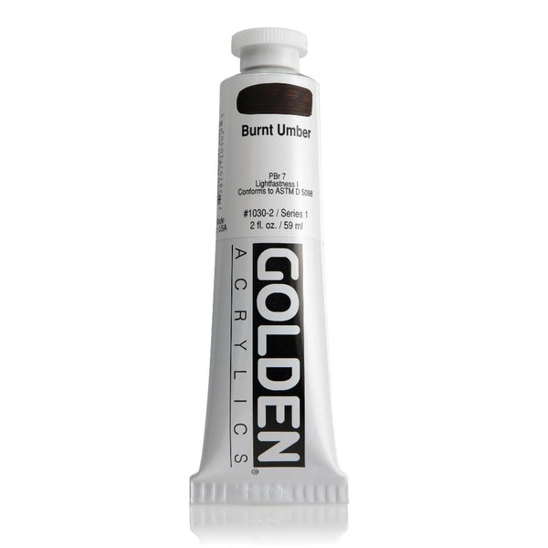 Golden Heavy Body Acrylic Paint 2oz Burnt Umber