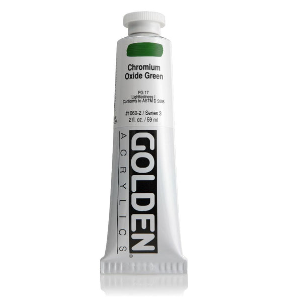 Golden Heavy Body Acrylic Paint 2oz Chromium Oxide Green