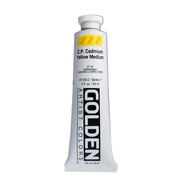 Golden Heavy Body Acrylic Paint 2oz CP Cadmium Yellow Medium