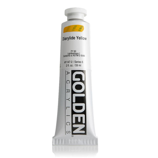 Midoco.ca: Golden Heavy Body Acrylic Paint 2oz Diarylide Yellow