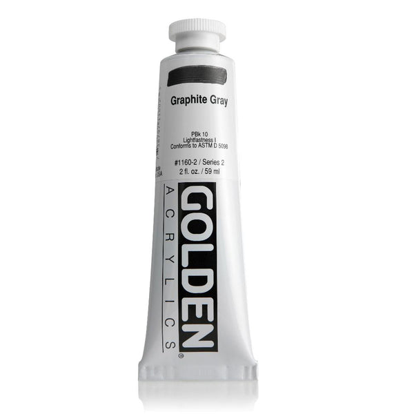 Golden Heavy Body Acrylic 2oz Graphite Grey