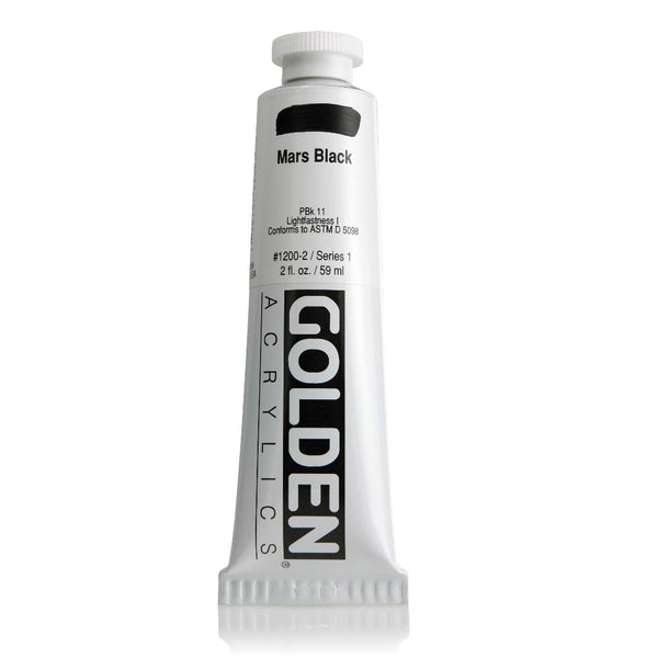 Golden Heavy Body Acrylic Paint 2oz Mars Black