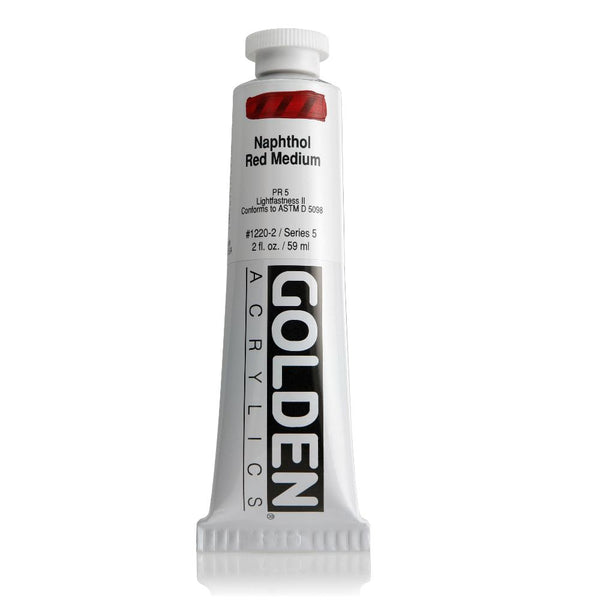 Midoco.ca: Golden Heavy Body Acrylic Paint 2oz Naphthl Red Med