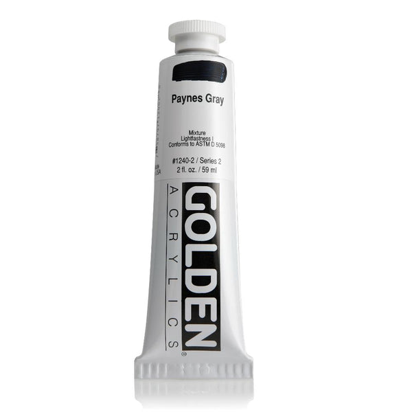 Midoco.ca: Golden Heavy Body Acrylic 2oz Paynes Grey