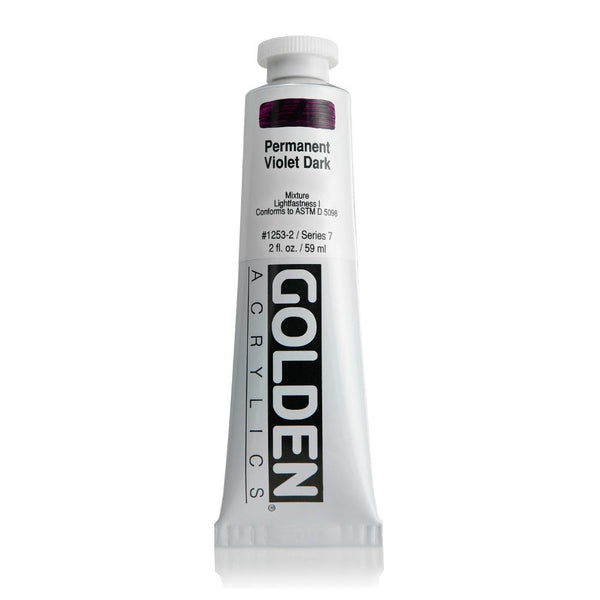 Midoco.ca: Golden Heavy Body Acrylic 2oz Permanent Violet Dark