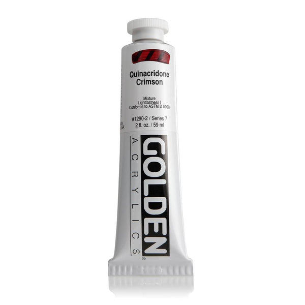 Midoco.ca: Golden Heavy Body Acrylic Paint 2oz Quinacridone Crimson