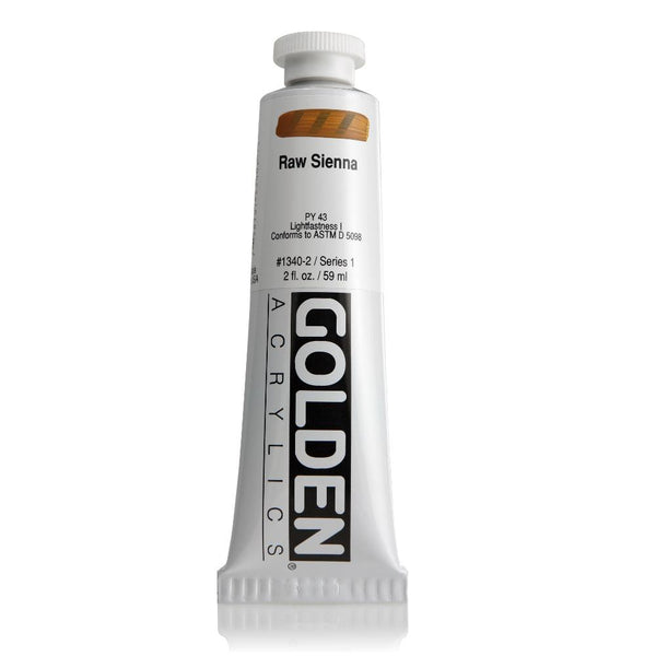 Midoco.ca: Golden Heavy Body Acrylic Paint 2oz Raw Sienna