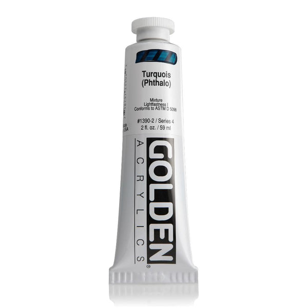 Midoco.ca: Golden Heavy Body Acrylic Paint 2oz Turquoise Phthalo