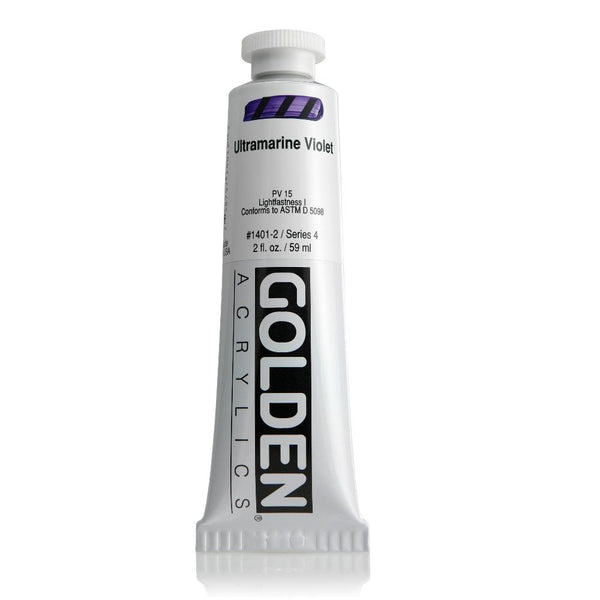 Midoco.ca: Golden Heavy Body Acrylic Paint 2oz Ultramarine Violet