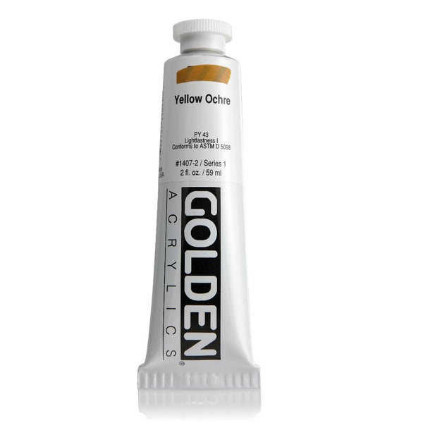 Midoco.ca: Midoco.ca: Golden Heavy Body Acrylic Paint 2oz Yellow Ochre