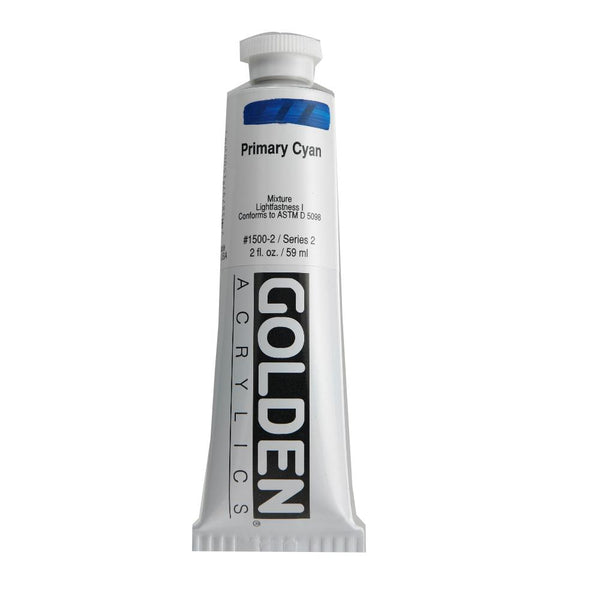 Midoco.ca: Golden Heavy Body Acrylic Paint 2oz Primary Cyan