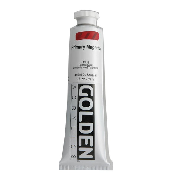 Golden Heavy Body Acrylic Paint 2oz Primary Magenta