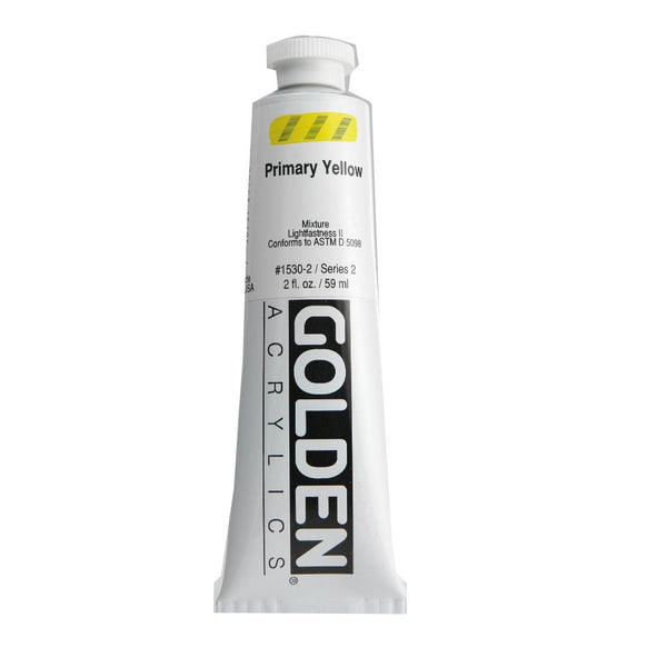 Golden Heavy Body Acrylic Paint 2oz Primary Yellow